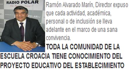 TODA LA COMUNIDAD DE LA ESCUELA CROACIA TIENE CONOCIMIENTO DEL PROYECTO EDUCATIVO DEL ESTABLECIMIENTO